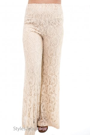Carlin Vintage Victorian All Lace Lined Pant Stone Verducci Pant