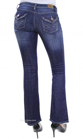 Laila YMI Bootcut Denim Jeans With Embroidered Pockets