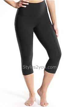 Lysse Leggings Tummy Control Plus Size Capri Legging In Black