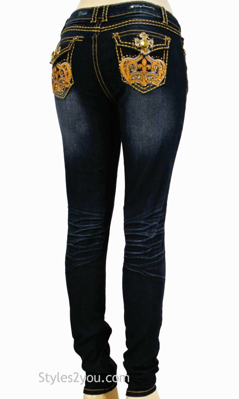 Royal Stretch Denim Jeans In Blue [145854 Sexy Cexi Couture Denim ...