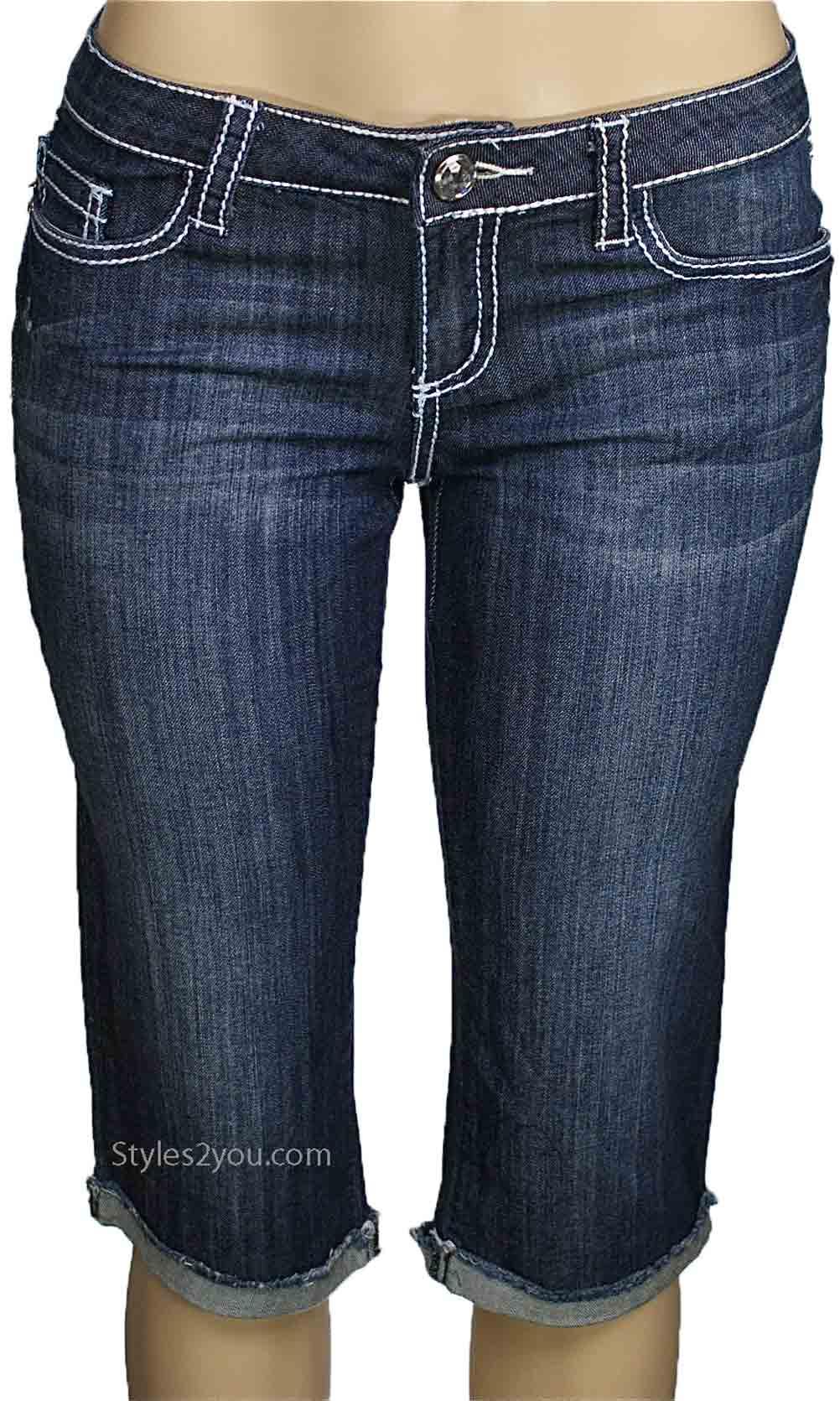 Nina Ladies Denim Cut Off Bermuda Shorts YMI Jean Shorts YMI Jeans ...