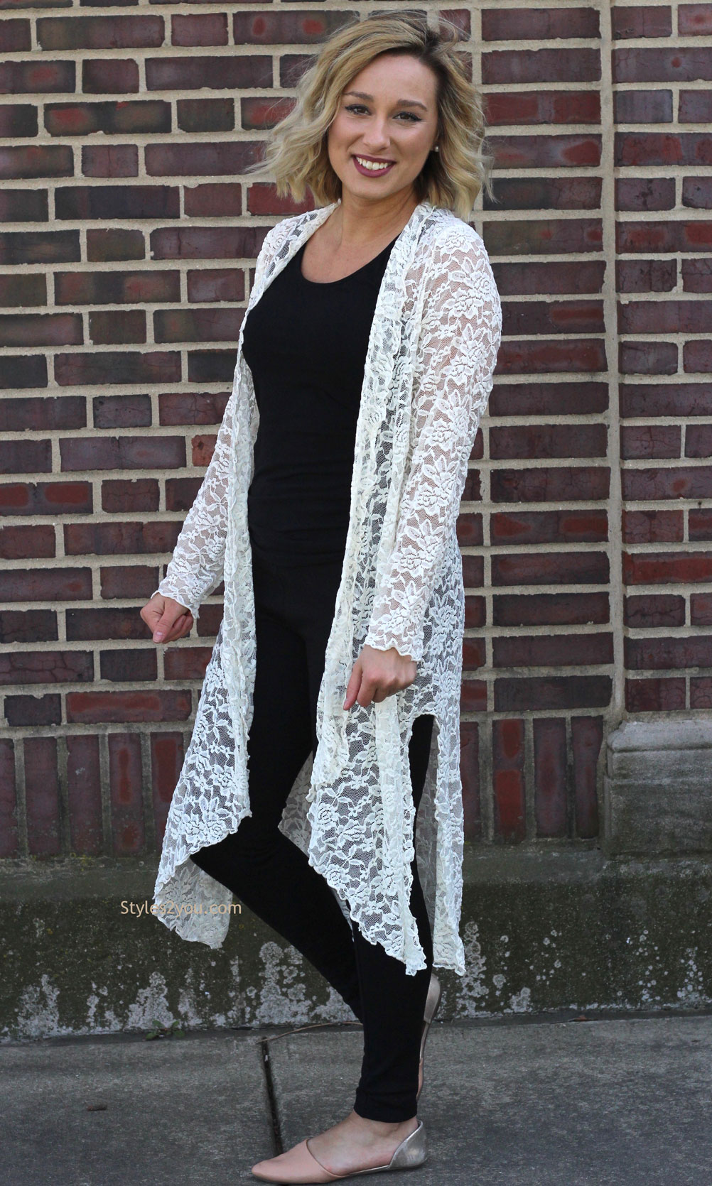 Connie Victorian Modern Vintage Lace Cardigan Duster In Ivory ...