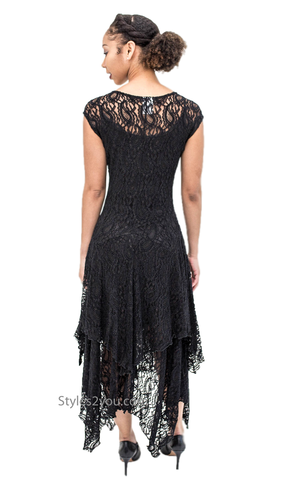 bdd4ed162a Abigail Layered All Lace Dress With Slip In Black Verducci Dress Verducci  Clothing Apparel Ladies lace dress vintage clothing  7958 Verducci Clothing  ...