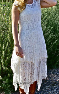 Abigalie Lace Dress In Ivory