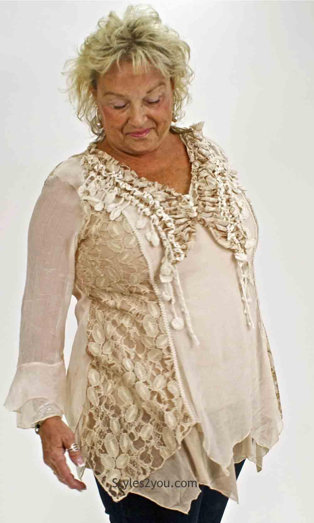 Montabella Ladies Retro Modern Vintage Victorian Blouse