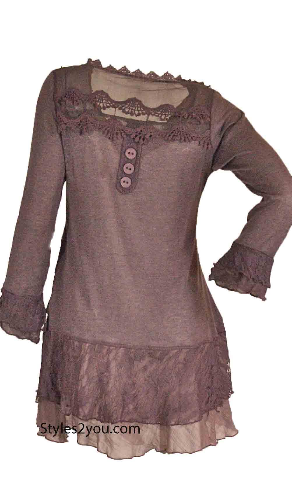 Plus Size Victorian Blouse