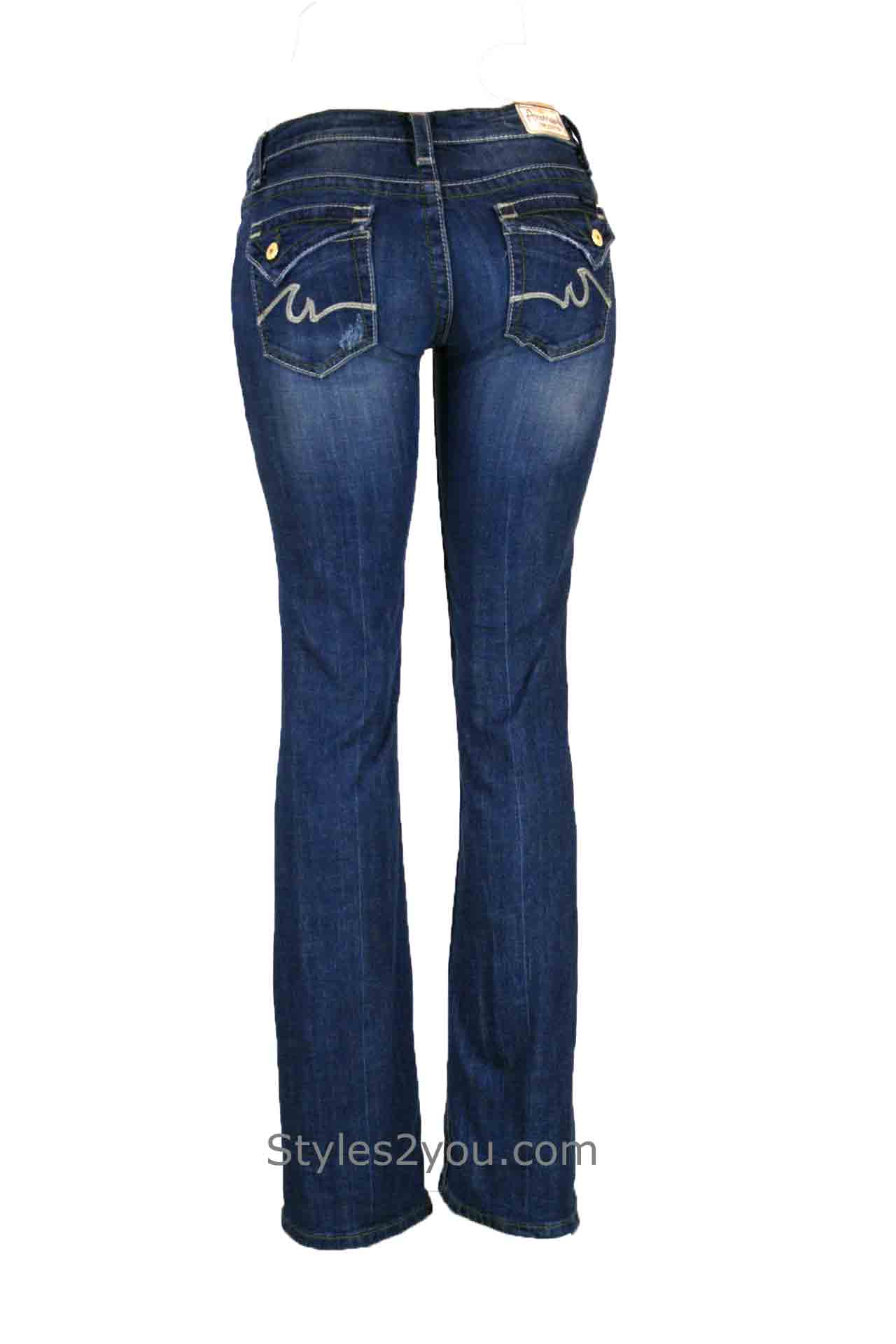 Joelle Boot Cut Aberfalt Urban Distressed Denim Jeans Anoname ...