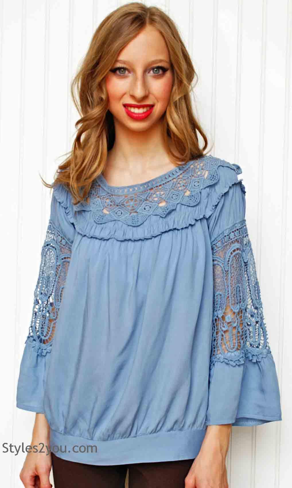 9070fef5304 Crochet Blouse Plus Size