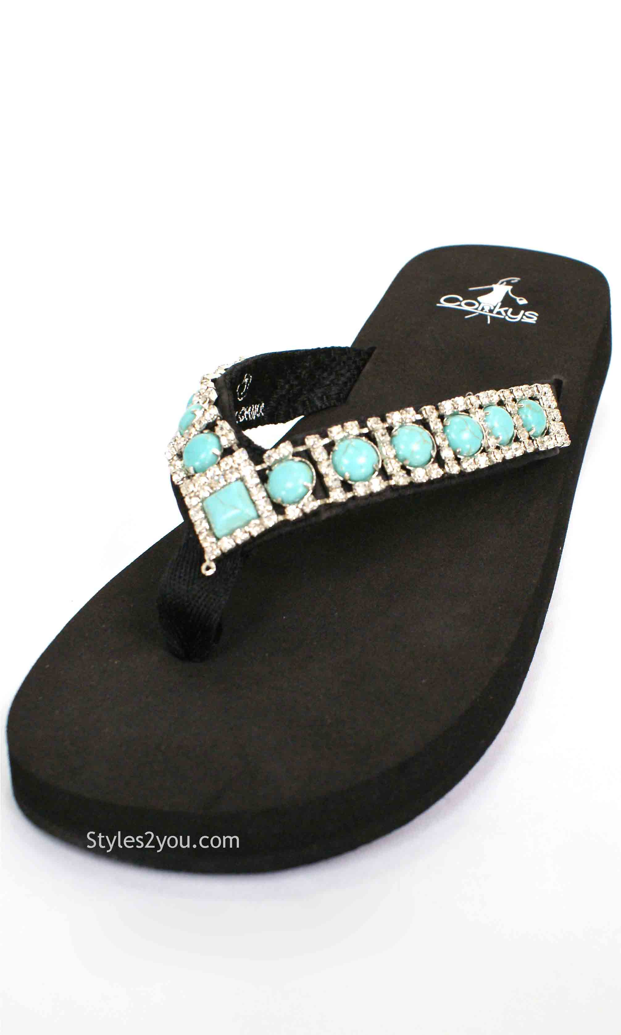 9b19d4a34b1d Northwest Sandal In Turquoise Corky s Women s Northwest Flip Flop Sandal In  Turquoise  208046TURQR Corkys Shoes Sandals  -  49.00