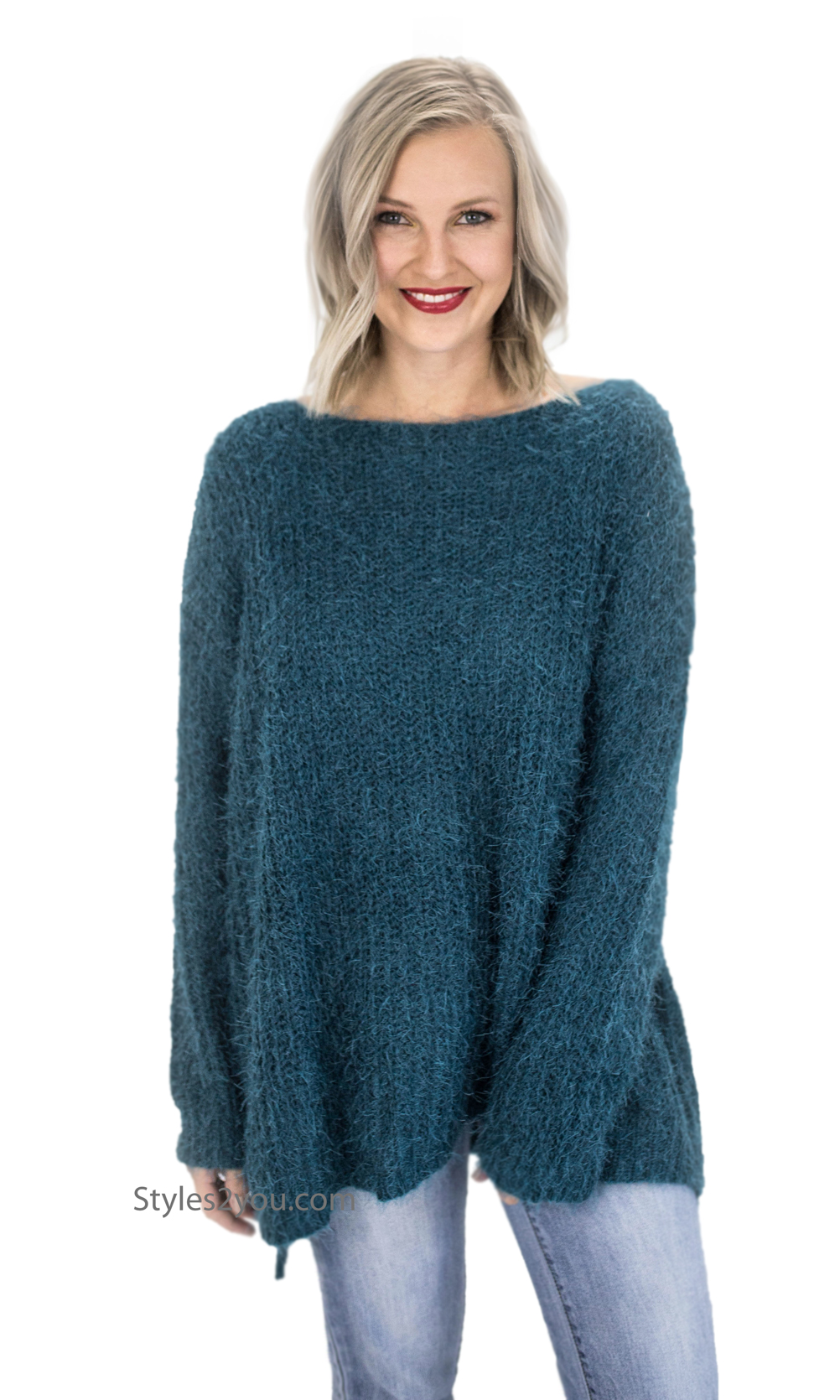 Champaign Ladies Oversized Loose Fitting Sweater Tunic In