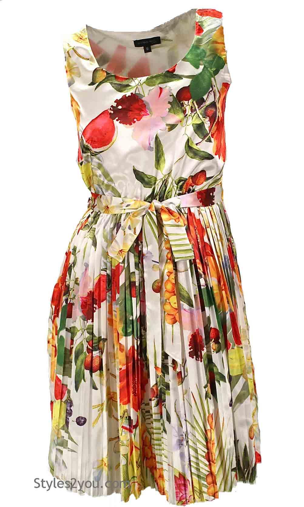 Nitty Sleeveless Como No Ladies Retro Dress In Fun Colors