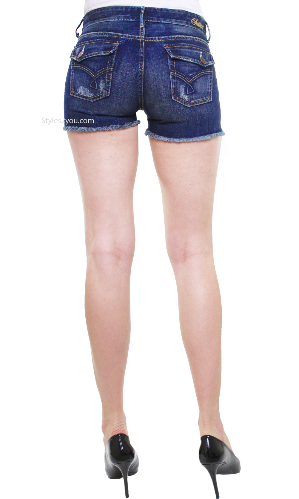 Bonnie Jean Shorts Cutoff Shorts In Dark Denim Sutter Jean ...