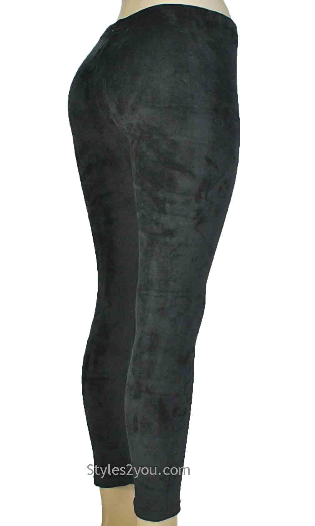 b32450bf7a85a Regina Crushed Velvet Legging In Black [Crushed Velvet Legging In ...