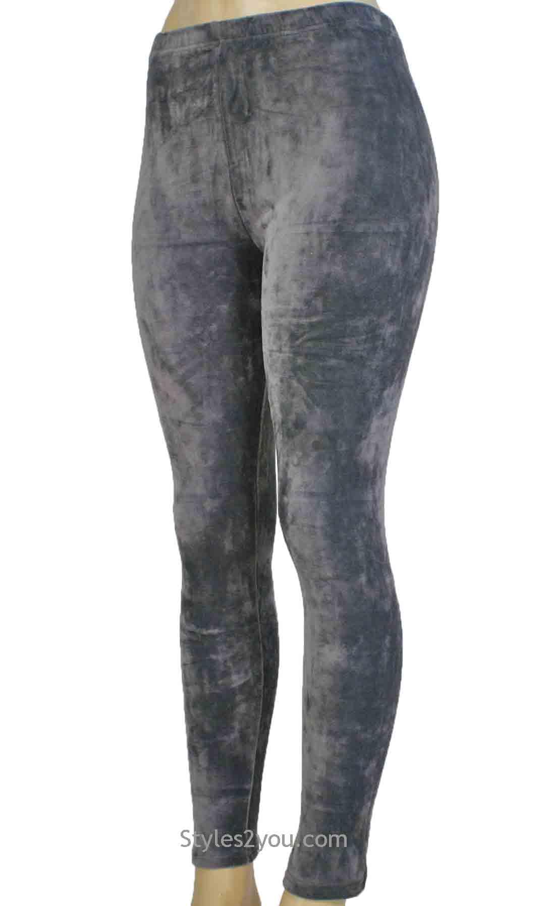 bd9345c1d869f Regina Crushed Velvet Legging In Gray [Crushed Velvet Legging In Gray] -  $32.00