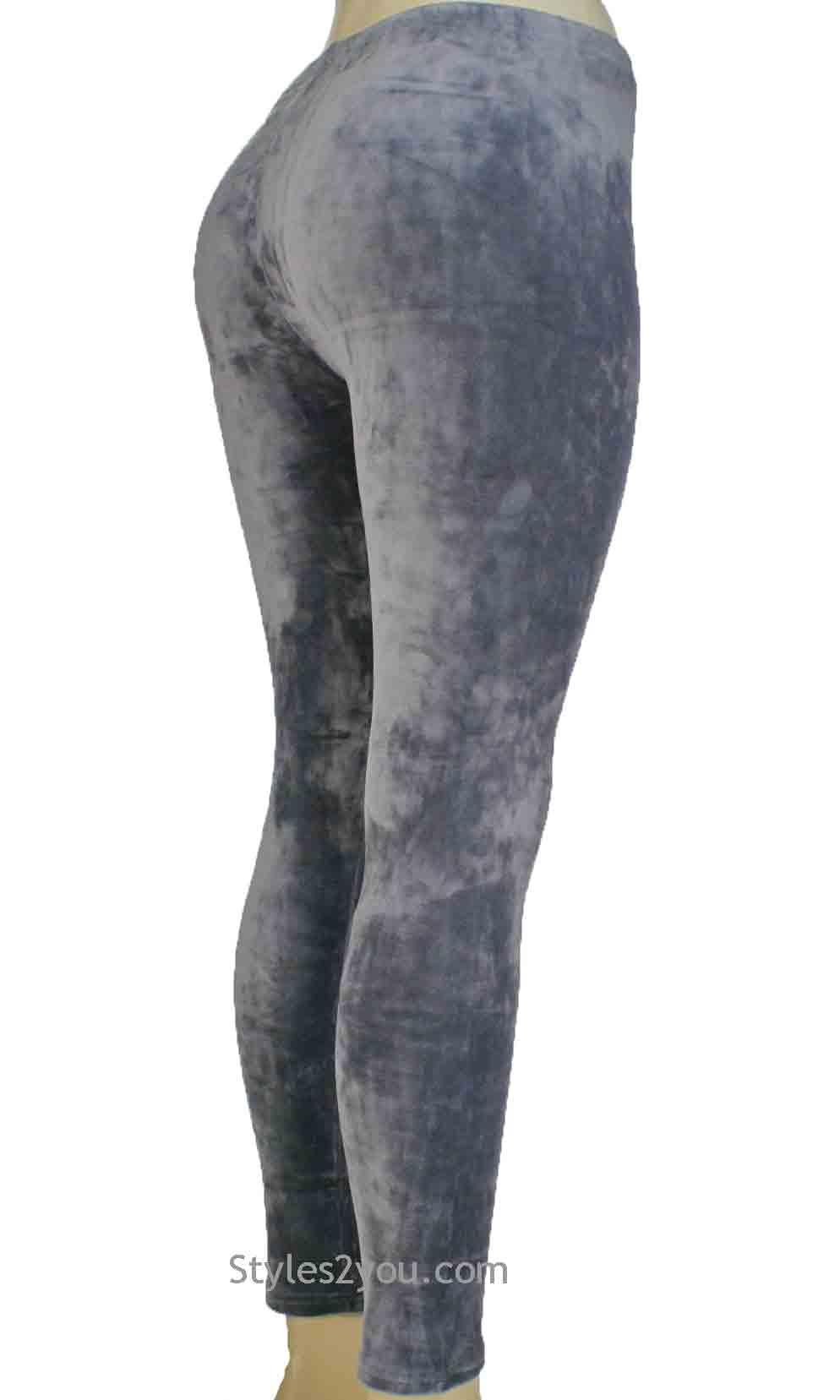 a9e019c534f18 Regina Crushed Velvet Legging In Gray [Crushed Velvet Legging In ...