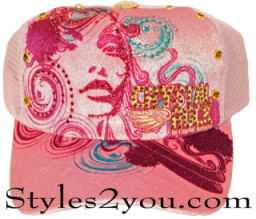 Crystal Rock Pretty In Pink Women's Ladies Baseball Cap