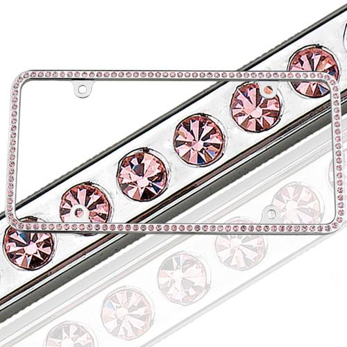 Swarovski Pink Crystal License Plate Frame 125 License2Bling l2b125 ...
