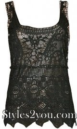 Pretty Angel Clothing Antique Lace Overtop In Black